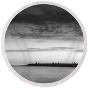 Looking At The Seasunset Round Beach Towel
