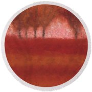 Looking At The World Through Rose Colored Lenses Round Beach Towel