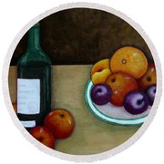 Looking For Cezanne Round Beach Towel