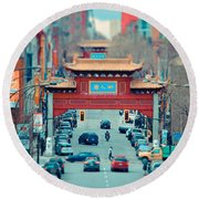 Looking For Chinatown Round Beach Towel