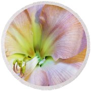 Looking Into Lavender Shadowsi Round Beach Towel