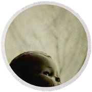 Looking Into The Distance Round Beach Towel