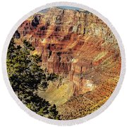 Looking Into The South Rim Round Beach Towel