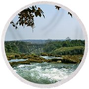 Looking Over The Top Of The Victoria Round Beach Towel