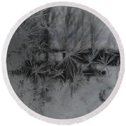 Looking Through The Frost I Round Beach Towel