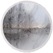 Looking Through The Frost IIi Round Beach Towel