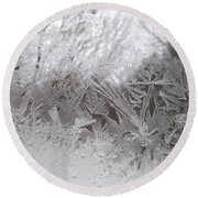 Looking Through The Frost Iv Round Beach Towel