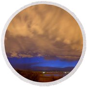Looking Through The Storm Round Beach Towel by James BO  Insogna