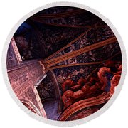 Looking Up Albi Cathedral Round Beach Towel