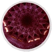 Looking Up Alhambra Stalactite Dome Round Beach Towel