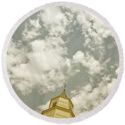 Looking Up At Heaven Round Beach Towel