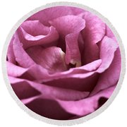 Looking Up - Dusty Rose Round Beach Towel
