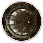 Looking Up Rome Round Beach Towel