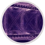 Looking Up Siena Cathedral Round Beach Towel