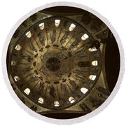 Looking Up St Mark's 2 Round Beach Towel
