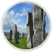 Looking West At Callanish Round Beach Towel