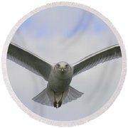 Looking You In The Eyes Round Beach Towel