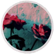 Looks Like Painted Roses Abstract Round Beach Towel