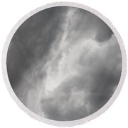 Looming Storm Round Beach Towel