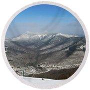 Loon Mountain Ski Resort White Mountains Lincoln Nh Round Beach Towel