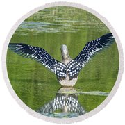 Loon Wings Round Beach Towel