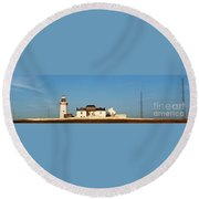 Loop Head Lighthouse Nfs Round Beach Towel