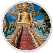 Lord Buddha Round Beach Towel