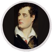 Lord Byron Round Beach Towel