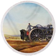 Lord Kitchener And General French Round Beach Towel