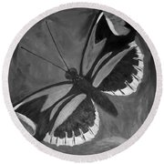 Lord Of The Butterfly Round Beach Towel