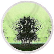 Lord Of The Trees Round Beach Towel