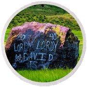 Lordy Lordy Round Beach Towel by Jon Burch Photography