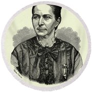 Loreta Janeta Velazquez (1842-1897) Round Beach Towel