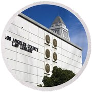 Los Angeles County Law Library Round Beach Towel
