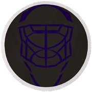 Los Angeles Kings Goalie Mask  Round Beach Towel