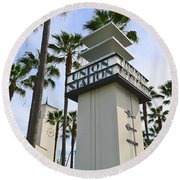 Los Angeles Union Station. Round Beach Towel