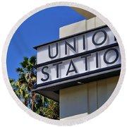 Los Angeles Union Station Round Beach Towel
