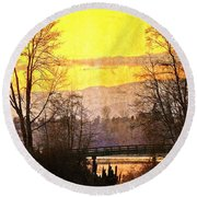 Lost Along The River Round Beach Towel