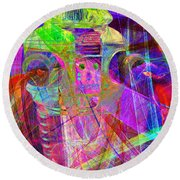 Lost In Abstract Space 20130611 Long Version Round Beach Towel