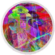 Lost In Abstract Space 20130611 Round Beach Towel