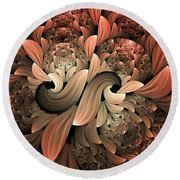 Lost In Dreams Abstract Round Beach Towel