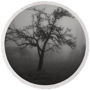 Lost In The Fog Round Beach Towel