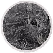 Lost In The Frost Round Beach Towel