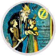 Lost King Of Oz Round Beach Towel