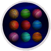 Lost My Marbles Round Beach Towel