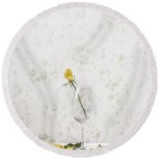 Lost Petals Round Beach Towel by Joana Kruse