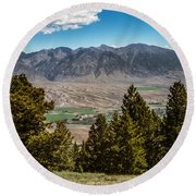 Lost River Mountains Round Beach Towel