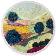 Lost Valley Round Beach Towel