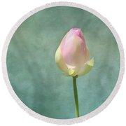 Lotus Flower Bud Round Beach Towel