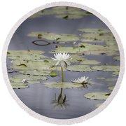 Lotus Flower- Gungarre Billabong V3 Round Beach Towel